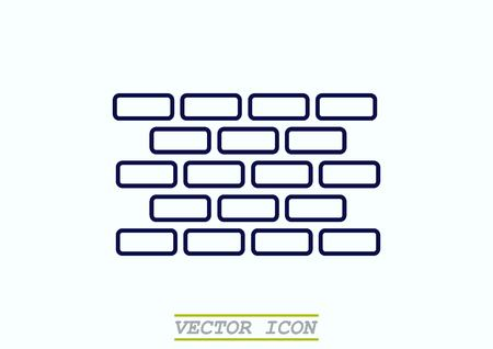 paredes de ladrillos: Ladrillos (albañilería, mampostería), icono Vectores