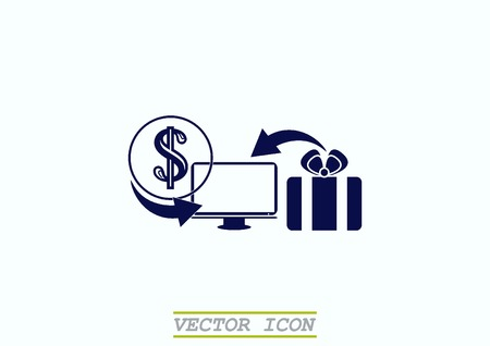 On line sale icon