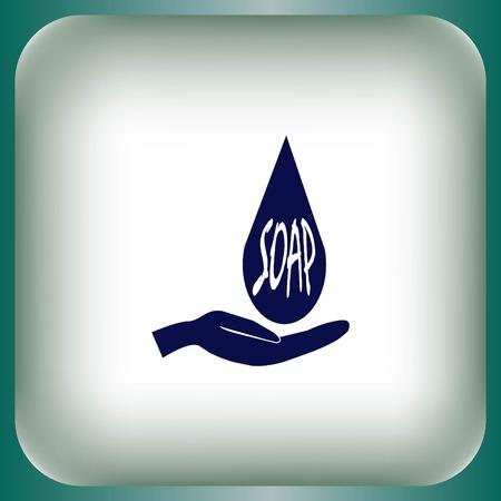 wash basin: soap icon Illustration