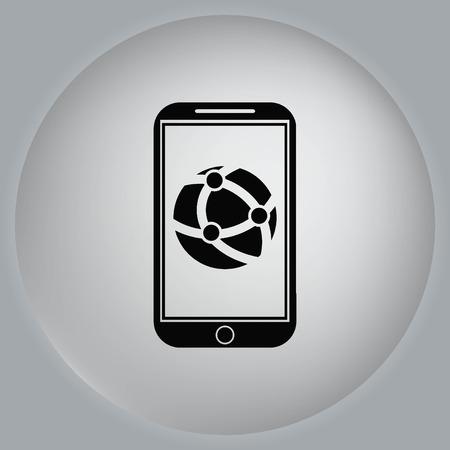 holding globe: Holding globe, social network icon