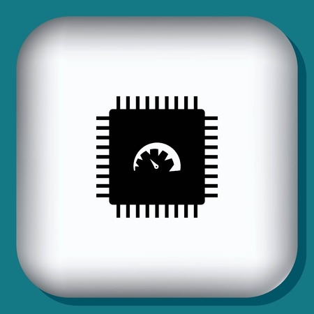 Circuit board, icône de la technologie, illustration vectorielle. Appartement style design