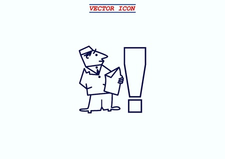 emergency attention: Exclamation danger sign Illustration