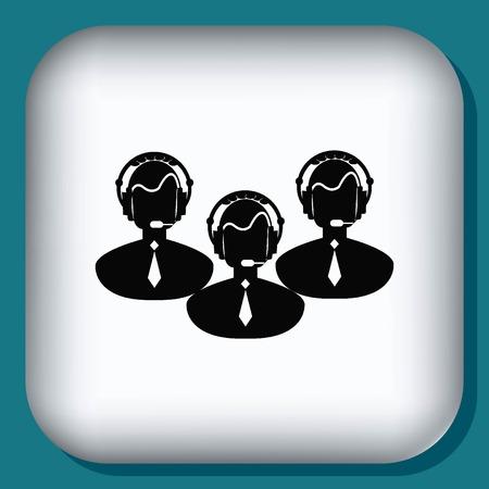 secretary office: Clock icon Illustration