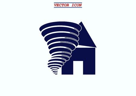 typhoon: Tornado, vector icon