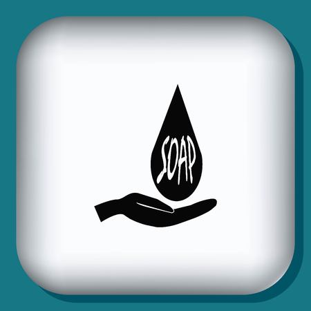wash your hands: soap icon Illustration