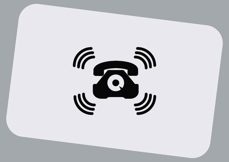 ring tones: Ringer icon Illustration