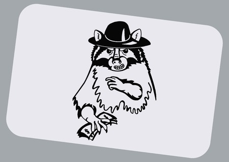 Vector illustration of a raccoon.