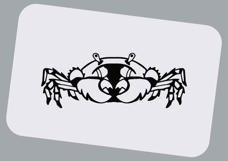 crabby: Vector illustration of a crab.  graphics, seafood. Marine reptile. Illustration