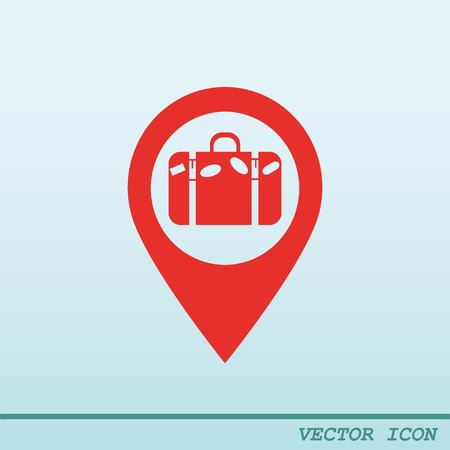 Navigator Guide itinerary icon Illustration