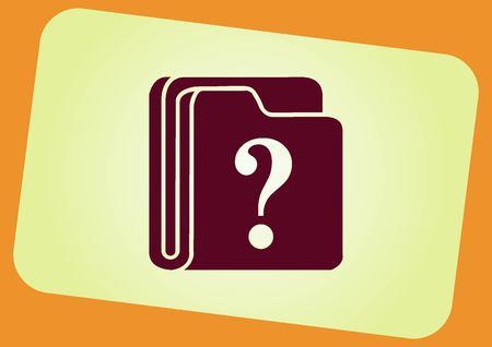 icon: faq icon, question icon. Illustration
