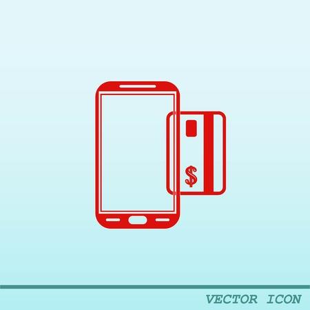 internet banking: Internet banking icon. Illustration