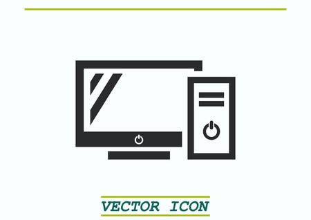 protecting: Protecting your computer laptop icon Illustration