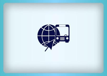 Icono de autob?s Ilustración de vector