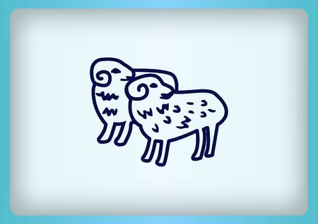 flocks: Vector illustration of a sheep. Flock of sheep. sheep. Illustration