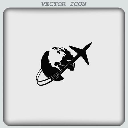 arrive: Aircraft icon Illustration