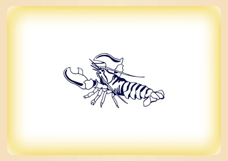 crustacea: Lobster, cancer icon. Vector illustration. , graphics, seafood. Marine reptile.