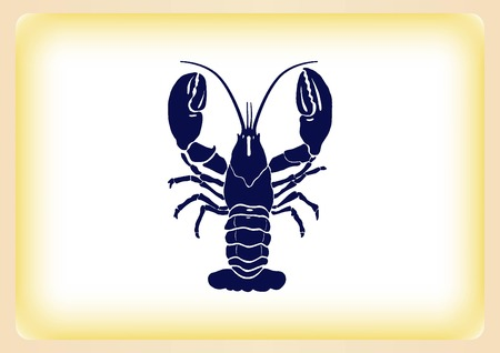 crabby: Lobster, cancer icon. Vector illustration. , graphics, seafood. Marine reptile.