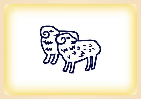 flock of sheep: Vector illustration of a sheep. Flock of sheep. sheep .