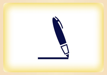 Pencil writing icon. Illustration