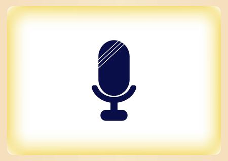 microfono antiguo: old microphone icon