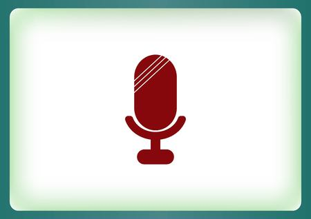 old microphone: old microphone icon