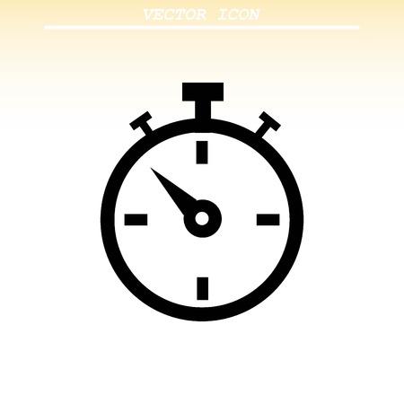 cronometro: icono del cronómetro reloj Vectores