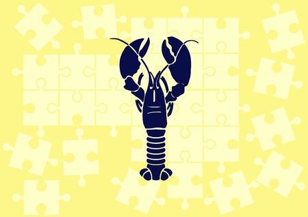 crabby: Lobster, cancer icon. Vector illustration. Illustration