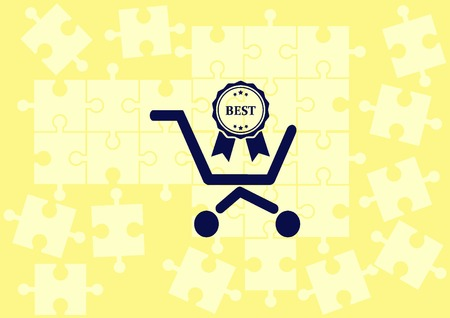 Shopping trolley, cart icon, Online sale icon