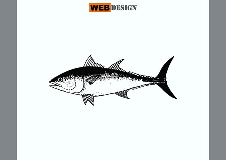 Vis icoon. Vector illustratie.