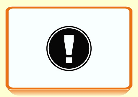 exclamation: Exclamation danger sign Illustration