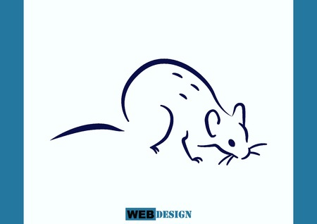 rodents: Rat icon. Mouse, harmful rodents icon.