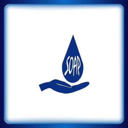 water basin: soap icon Illustration