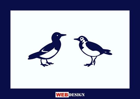 barn swallow: Bird icon. vector illustration. Illustration