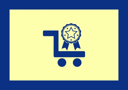 eshop: Shopping trolley, cart icon, Online sale icon