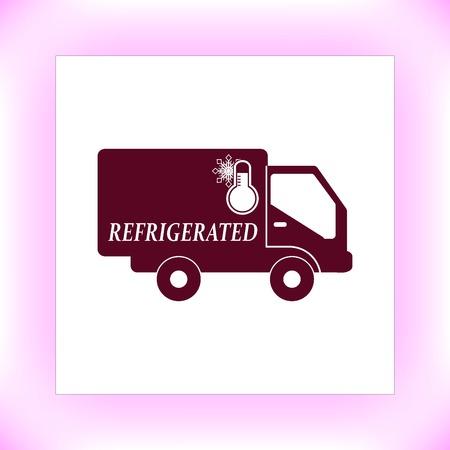 refrigerated: transportation, refrigerated icon Illustration