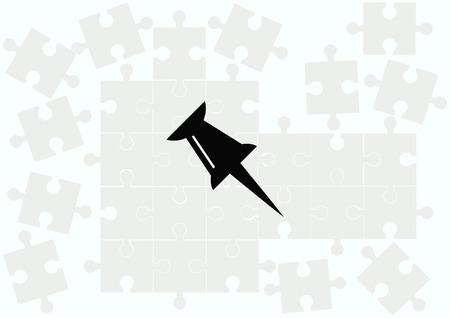 push pin icon: push pin icon, vector illustration. Illustration