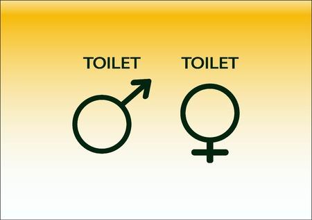 Symbole Einlass zur Toilette Symbol
