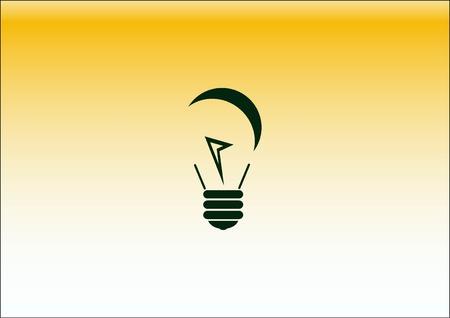 Light, bulb, electricity icon Illustration