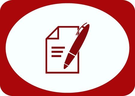 grafit: Pencil writing icon. Ilustracja