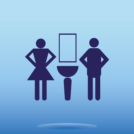 Symbols inlet to the toilet  icon