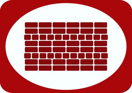 ladrillo visto: Bricks (brickwork, masonry), icon Vectores