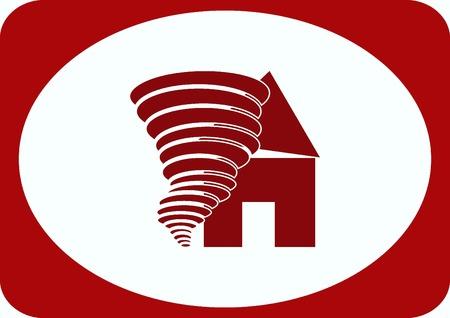 devastation: Tornado, vector icon