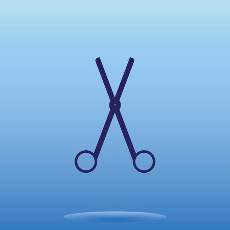 Scissors, cut icon Illustration