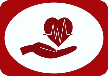 Human heart,  Cardiology resuscitation  icon