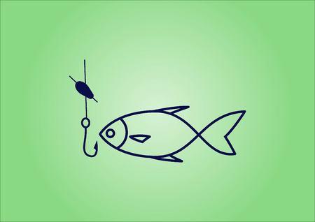 Fishing icon. Vector illustration. Illustration