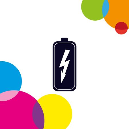 voltage sign: Battery, charging icon