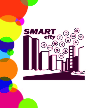 Smart sity icon. Collection modern trend concept.  vector illustration symbol Illustration