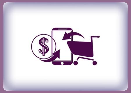 Online sale icon Illustration