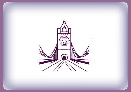 City silhouette icon. Vector illustration. bridge. Bridge over river. City landscape.