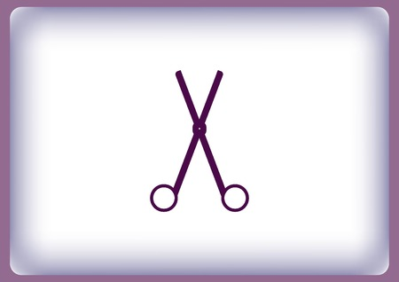 Scissors, cut icon Illustration